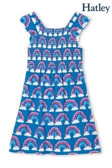 Hatley Magical Rainbows Gesmoktes Kleid, Blau