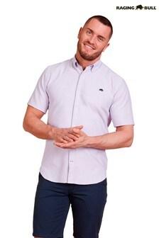 Raging Bull Purple Short Sleeve Signature Oxford Shirt