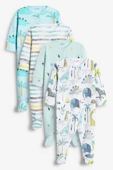 4 Pack Sleepsuits (0-2yrs)