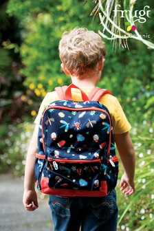 Frugi Recycled Polyester Adventurers Backpack - Bugs