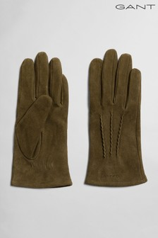 GANT Green Suede Gloves