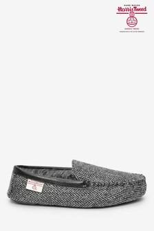 Harris Tweed Moccasin Slippers