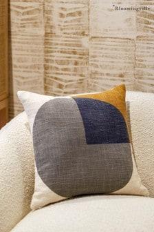 Bloomingville Grey Multicolour Cotton Cushion