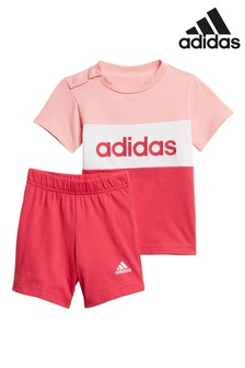 adidas Infant Linear T-Shirt And Shorts Set