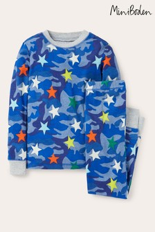 Boden Blue Glow-In-The-Dark Long Pyjamas
