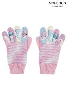Пурпурные перчатки с единорогами Monsoon