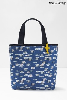 White Stuff Blue Hayley Reversible Beach Tote Bag