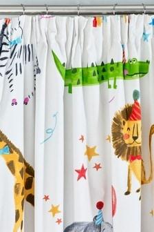 Party Animals Pencil Pleat Blackout Curtains