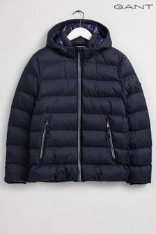 GANT藍色鋪棉運動風夾克外套