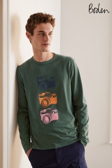 Boden Cameras Long Sleeve Graphic T-Shirt