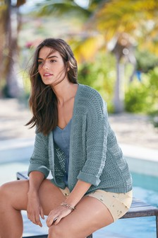 Cardigan surpiqué