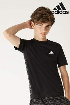 Čierne tričko s potlačou adidas