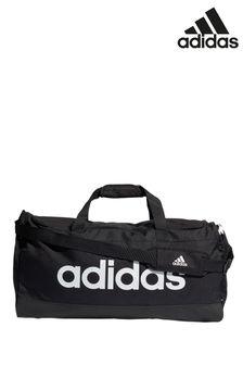 adidas大碼直線黑色旅行包