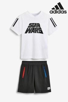 adidas Little Kids Star Wars™ T-Shirt And Shorts Set