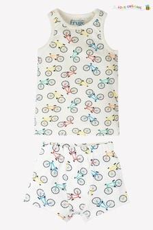 Майка и трусы с принтом велосипедов Frugi GOTS Organic