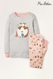 Boden Pink Cosy Long John Pyjamas