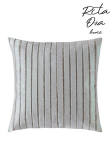 Rita Ora Velvet And Metallic Stripe Cushion