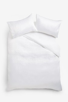 Gem And Pearl Duvet Cover And Pillowcase Set