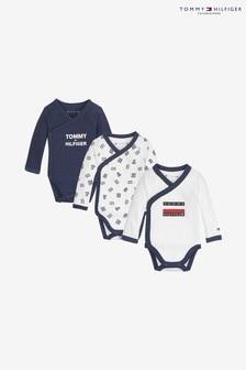 Set cadou cu trei body-uri pentru bebeluși Tommy Hilfiger