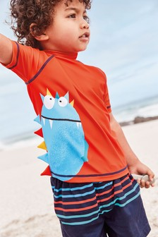 Monster Rash Vest And Swim Shorts Set (3mths-7yrs)
