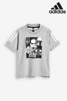 Sivé tričko adidas Little Kids Star Wars™