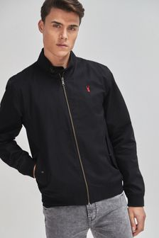 Shower Resistant Harrington Jacket With Check Lining (784056) | $76