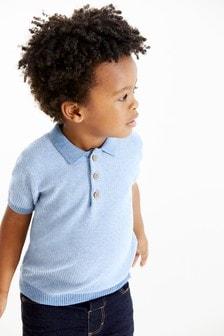 Tricou polo texturat (3 luni - 7 ani)
