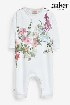Короткий комбинезон с цветочным рисунком Baker by Ted Baker (для новорожденных девочек)