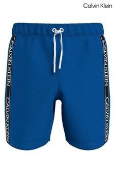 Calvin Klein Blue Core Logo Drawstring Swim Shorts