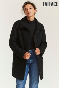 FatFace Black Betty Boucle Coat