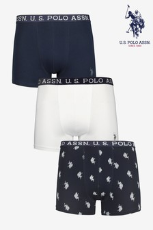 U.S. Polo Assn. Blue Boxers Three Pack