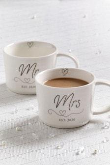 Set of 2 Mr & Mrs Mugs