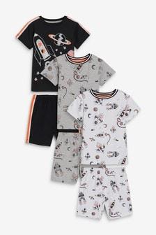 3 пижамных комплекта с шортами  (9 мес. - 8 лет)