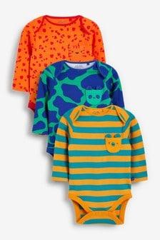 Long Sleeve Bodysuits 3 Pack (0mths-3yrs) (786067) | $18 - $21