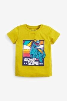 Tričko s krátkymi rukávmi a motívom dinosaura (3 mes. – 7 rok.)