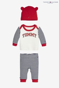 Set cadou cu dungi pentru bebeluși Tommy Hilfiger