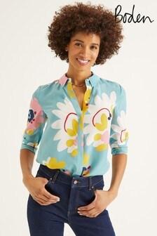 Boden Blue The Silk Shirt