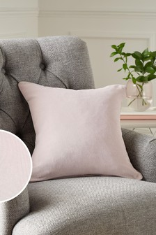 Pale Mauve Soft Velour Small Square Cushion