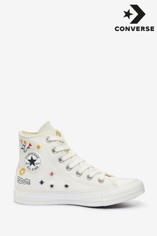Converse White All Star High Trainers