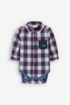 Боди-рубашка в клетку (0 мес. - 2 лет)