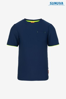 Sunuva Navy Short Sleeve Rash Vest