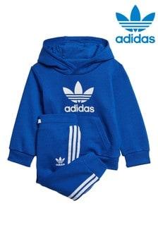 adidas Originals Little Kids Blue Hoody And Joggers Set