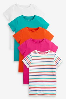 5 Pack Rainbow Stripe T-Shirts (3-16yrs)