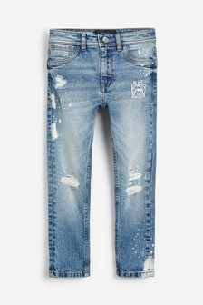 Distressed Print Jeans (3-16yrs)