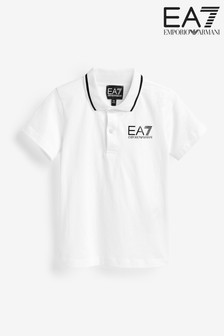 Поло для мальчиков с логотипом Emporio Armani EA7