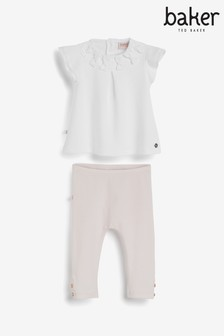 Baker by Ted Baker Baby Girls Bow Top With Leggings