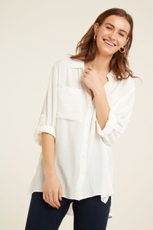 F&F White Two Pocket Shirt