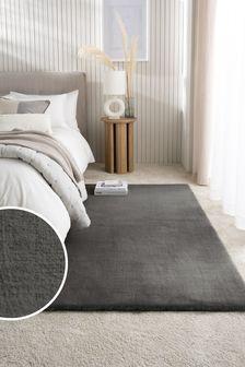 Dark Grey Cushy Supersoft Rug