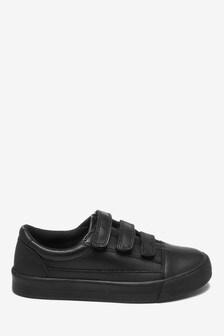 Кожаные кроссовки с ремешками (Подростки)