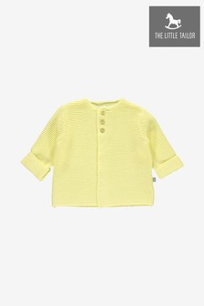 Хлопковый кардиган лимонного цвета The Little Tailor
